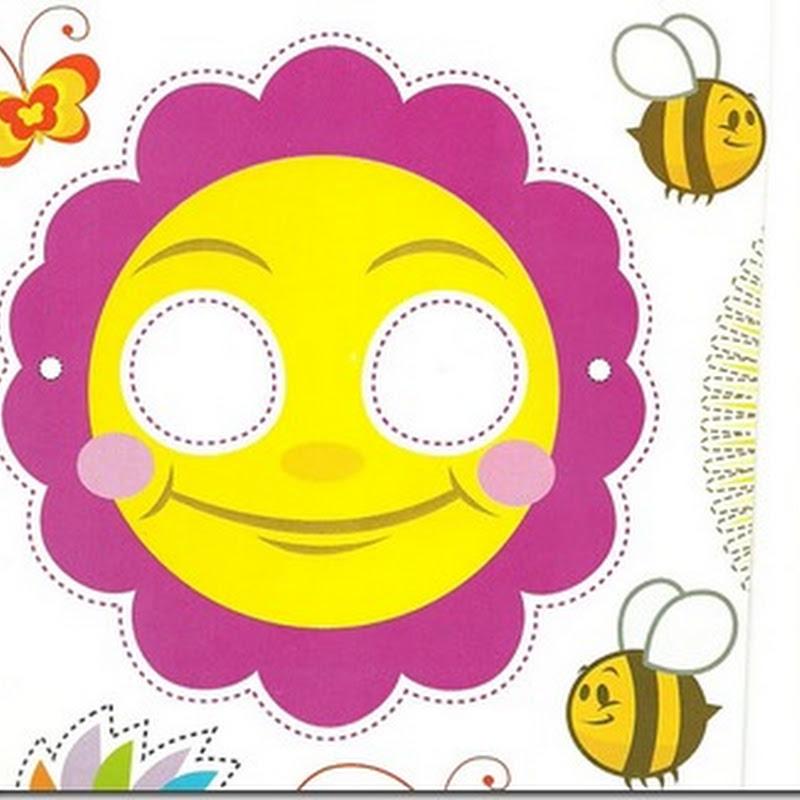 Máscara de flor para imprimir