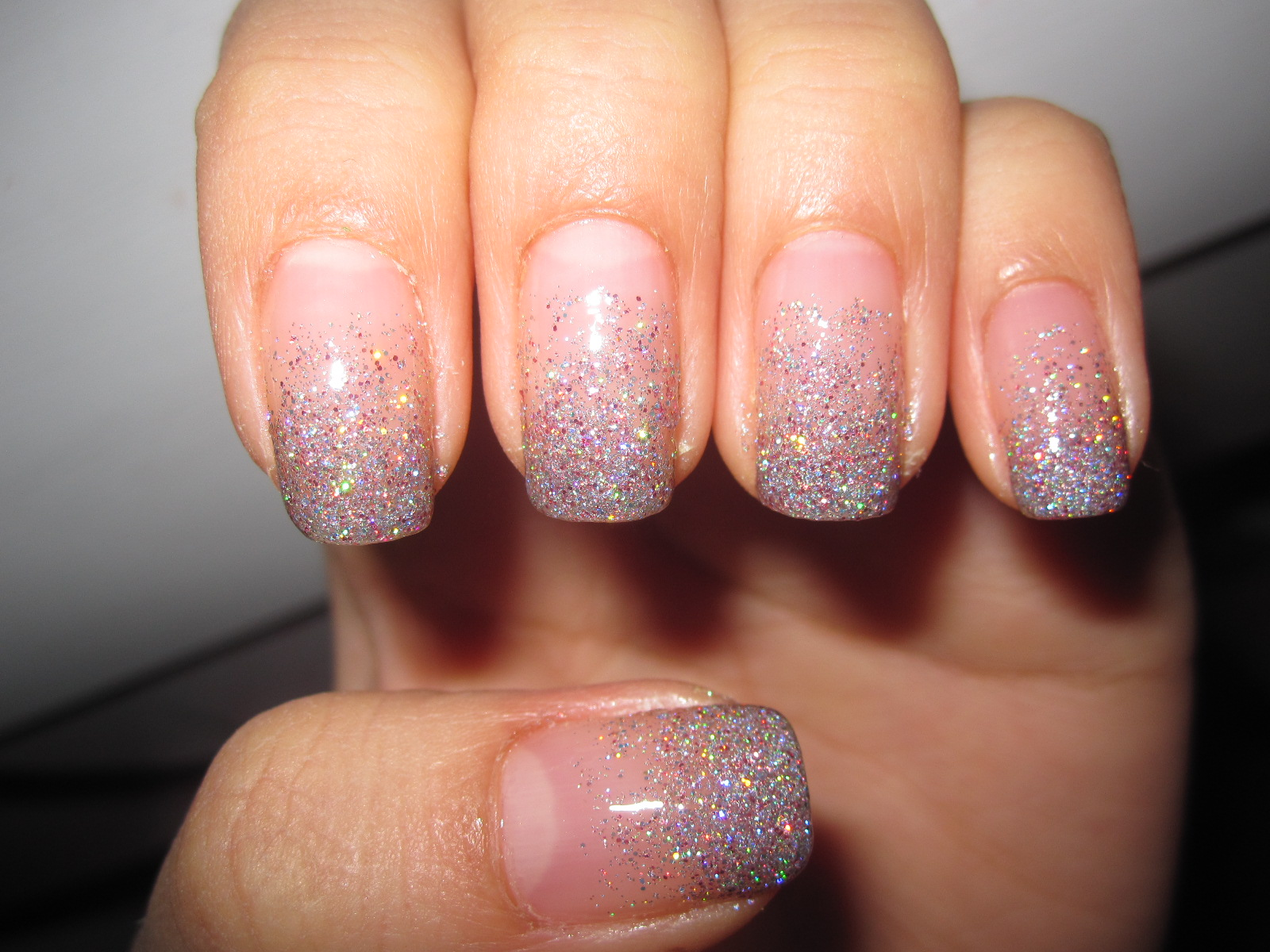 The Glamorous French glitter nail designs Pics