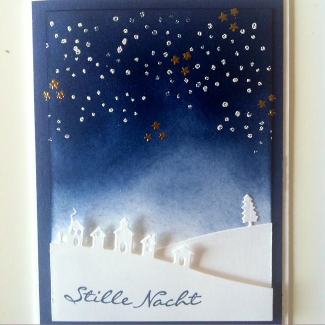 Karte, Weihnachtskarte,Stampin Up, Framelits Schlittenfahrt, Loewchenzimmer, Löwchenzimmer