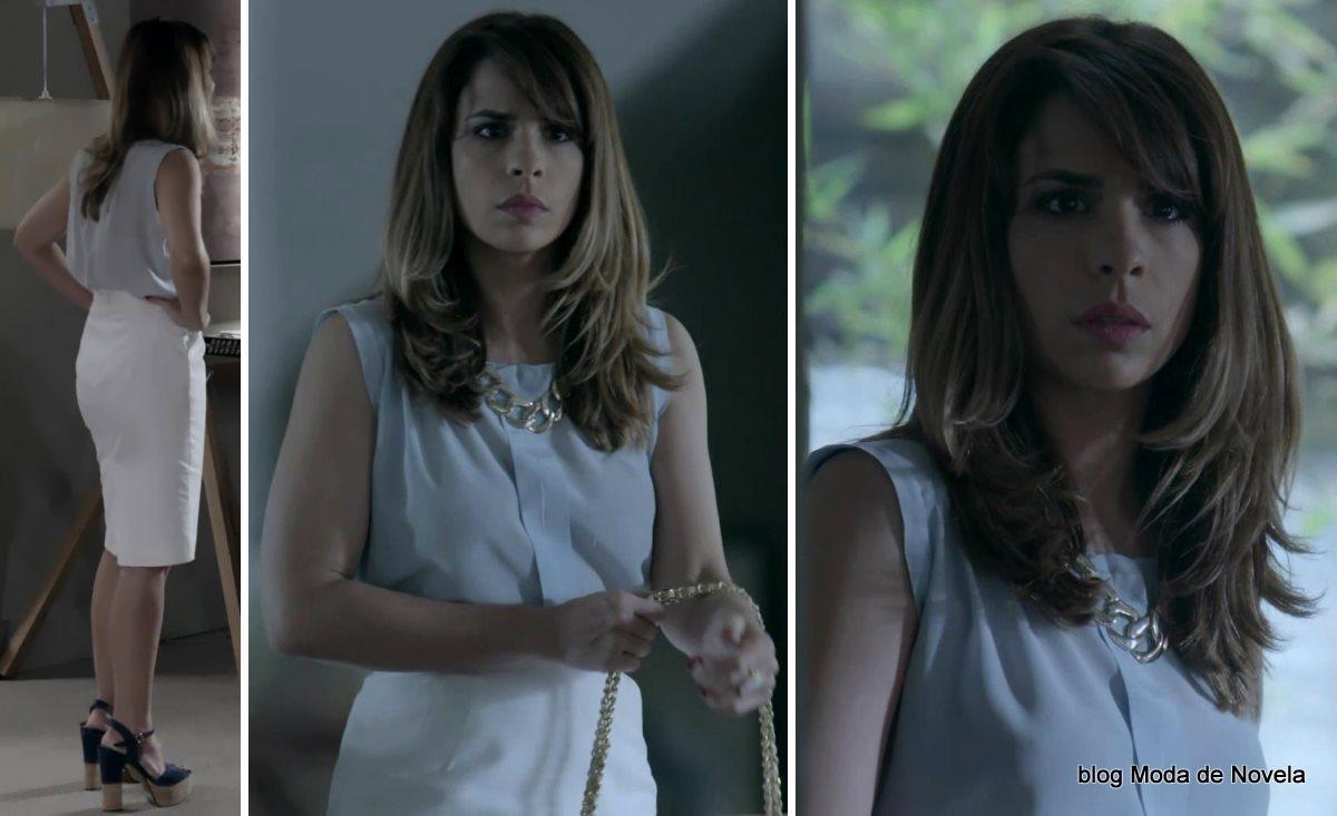 moda da novela Império, look da Danielle dia 13 de outubro