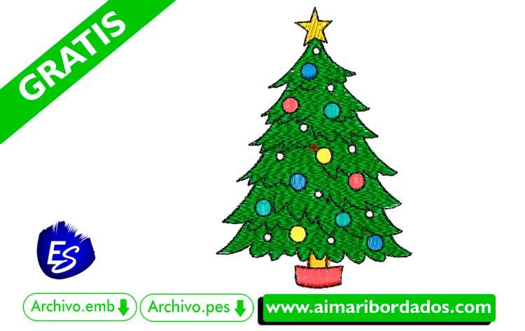 Árbol de Navidad para bordar a máquina DESCARGA GRATIS