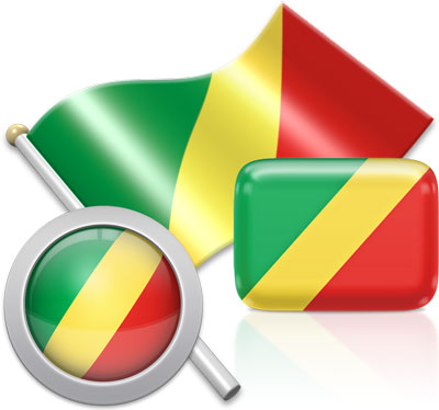 Congolese flag icons pictures collection