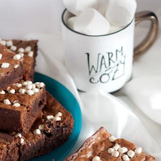 Caramel Hot Chocolate Brownies