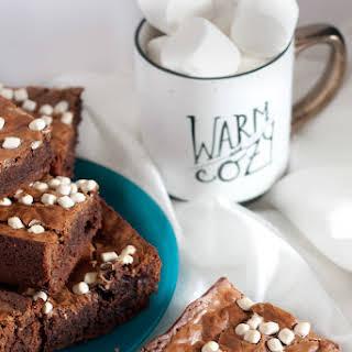 Caramel Hot Chocolate Brownies.
