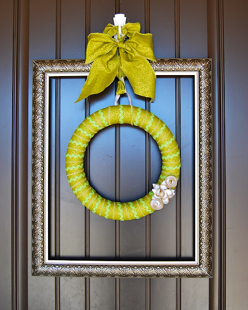 Framed march wreath
