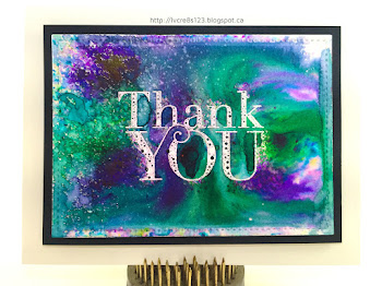 Linda Vich Creates: How Do I Spell Fun? C-O-L-O-R  B-U-R-S-T-S! Vibrant Thank You cards colored with Ken Oliver's Color Bursts.