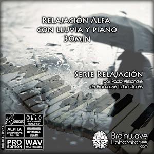 Relajación Alfa con lluvia y piano 30min