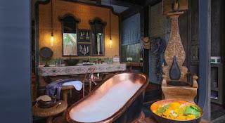Kamar Capella Ubud dengan BathTub unik