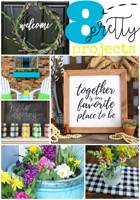 8 Pretty Projects at GingerSnapCrafts.com #diy #crafts #spring