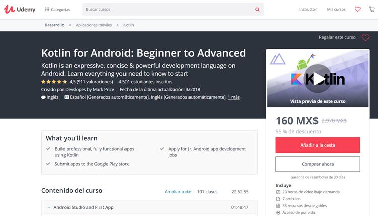 6 cursos para aprender Kotlin si vienes de Java