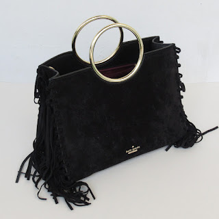 Kate Spade Black Suede Crossbody Bag