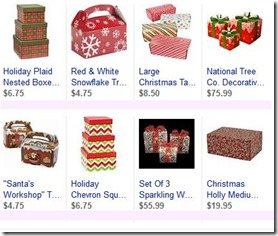 cristmas decorative boxes