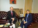 Ambassador Dan Mozena meets with Ambassador Akramul Qader