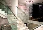 Marble and glass Staircase