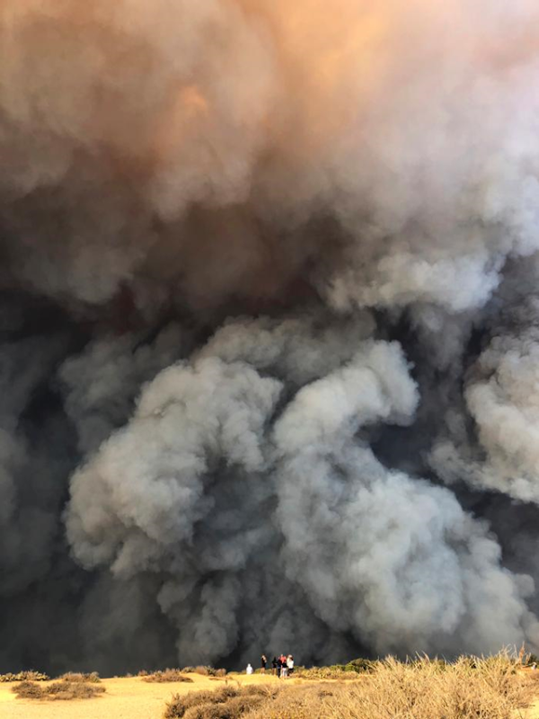 In this Friday, 9 November 2018 photo, smoke from the wildires fills the air in Malibu, California. Los Angeles County fire Chief Daryl Osby said Saturday that firefighters told him they were working in the toughest, most extreme conditions they had seen in their lives on Friday night. Photo: AP