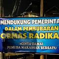 Spanduk Dukungan Ke Pemerintah Dan TNI-Polri Atas Pembubaran FPI Bertebaran di Kota Makassar