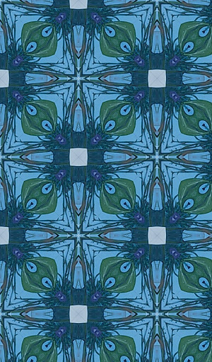Blue Green Abstract Image
