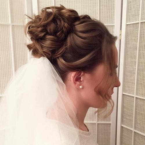 Top Smart Wedding Hair Updos In Current Year For Brides 2017-2018 6