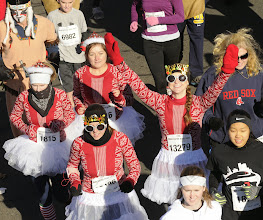 Photo: MANCHESTER 11/28/13 Costumes at the Manchester Road Race are always fun to watch. (MRR Photo by John Long)