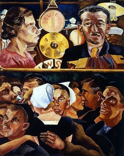 Charley Toorop - Muzikanten en dansende boeren, 1927