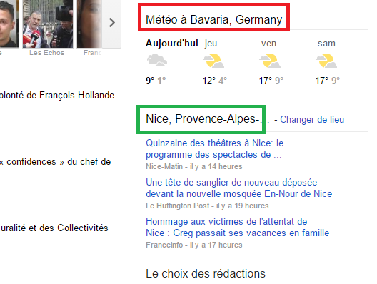 how to change the weather on google news 2018