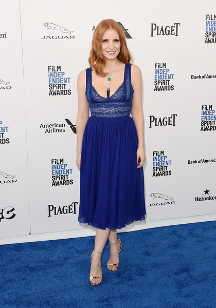 Jessica Chastain attends the 2016 Film Independent Spirit Awards