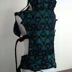 Yaro La Fleur Emerald-Black - Wrapconversion SSC by MamaMerel Custom Carriers