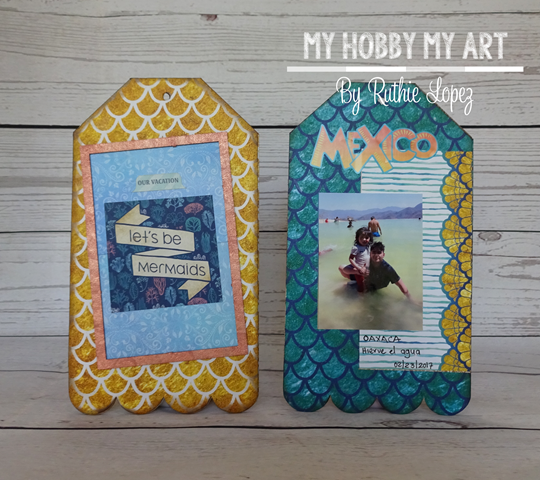 Mini album, clear Scraps Kits, Ruthie Lopez 3