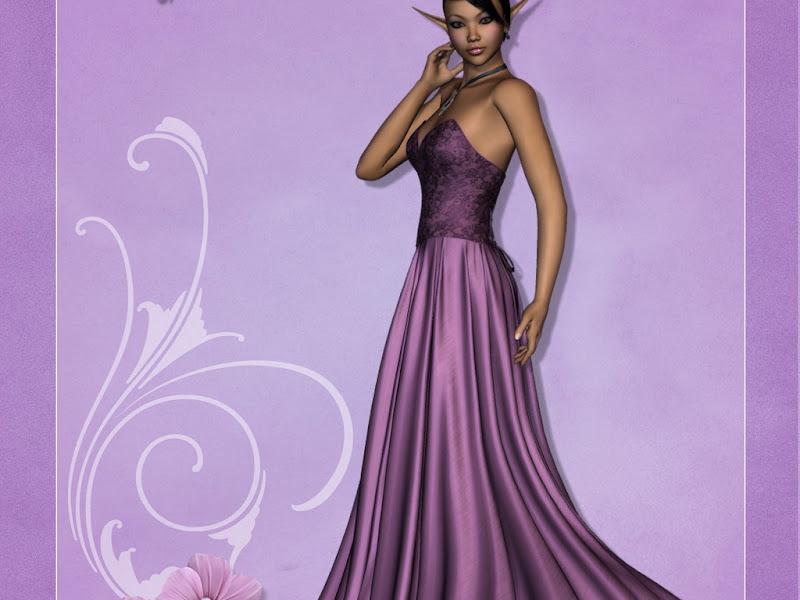 Elven Fantasy Girl In Pink Dress, Elven Girls