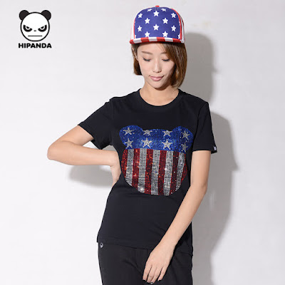 HIPANDA shirt with American flag design