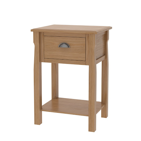 Matching Furniture Piece: Catalina Nightstand with Shelf, Natural Oak