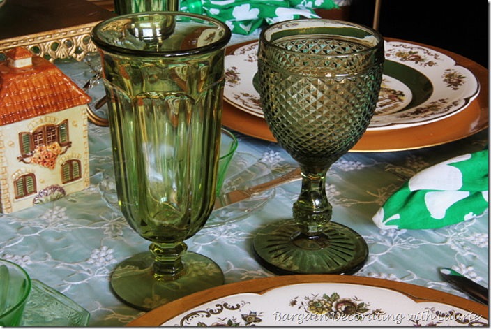 St. Patrick's Day Table Stemware