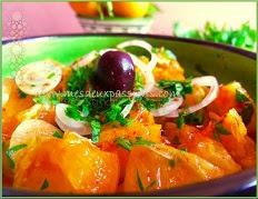 recette de la salade d'oranges aux oignons doux