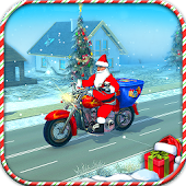 Racing Moto Bike Rider 3D: Santa Gift Delivery Sim