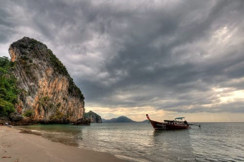 Long tail Boat thailand trang scaked
