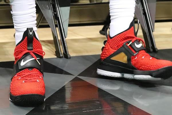 LeBron Debuts Red Diamond Turf 15s in Tribute to Deion Sanders