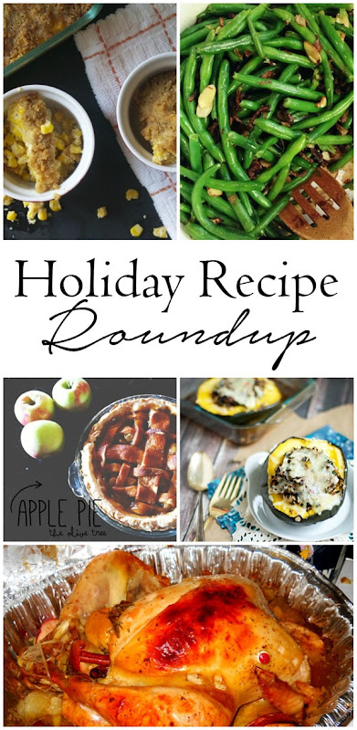 Looking for the perfect dish for your holiday dinner?  I've got you covered.  From turkey to sides and from dessert to drinks every recipe you could want is in this roundup! #holiday #recipe #roundup #Thanksgiving #Christmas