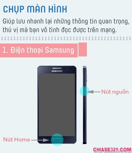 cách chụp ảnh màn hình điện thoại samsung