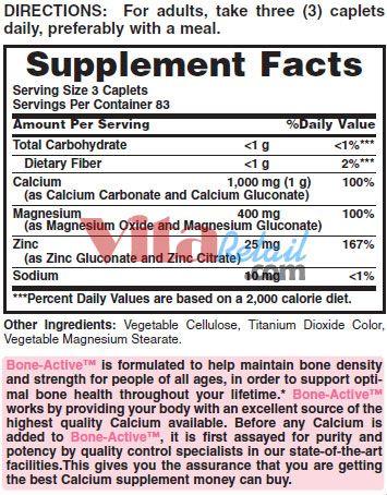 Vitamin world Calcium Magnesium Zinc
