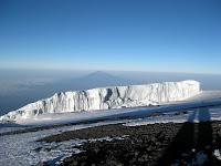 Kili Climb Day 5 - Glacial walls