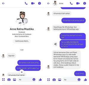 Akun Facebook Palsu, Mengatasnamakan Bupati Purwakarta Meminta Pulsa