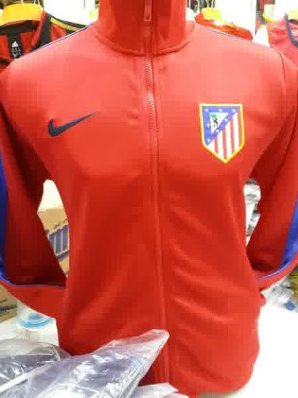 Jual Jaket Atletico Madrid Home Warna Merah 2014