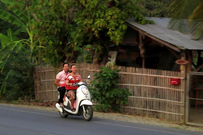 Women on a motorbike