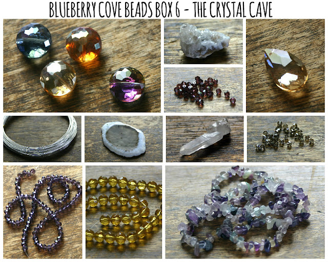 Crystal Cave Bead Box Collection by Blueberry Cove Beads