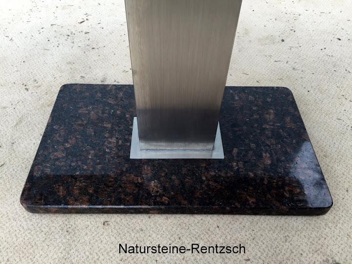 Gartentisch wohnzimmertisch granit braun naturstein for Wohnzimmertisch granit