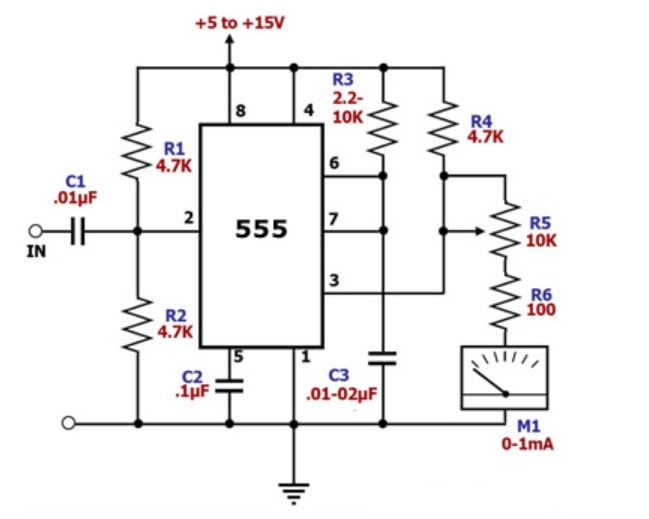hobby in electronics  frequency meter circuit