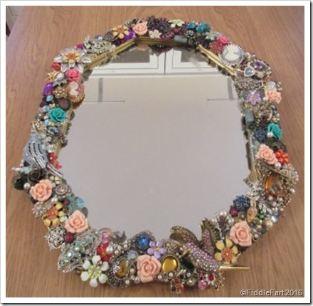 Jewelled Mirror Old Jewellery