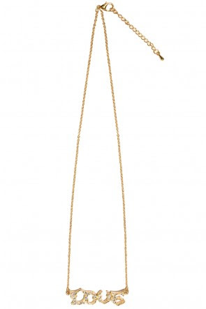 Abigail Gold Love Necklace, €15.00