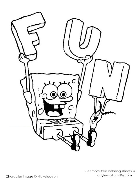 Printable Coloring Pages Spongebob Squarepants Free Image