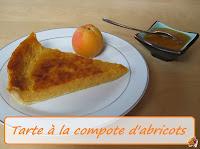 Tarte à la cmpote d'abricots - recette indexée dans les Desserts